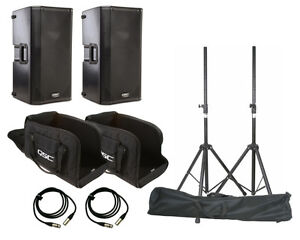 QSC K12 Speaker System Package - Includes Stands and Bags