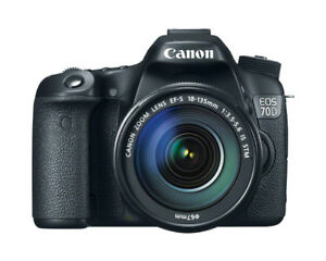 Canon EOS 70D Digital SLR Camera with TWO Lenses