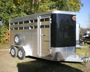 NEW Sundowner All Aluminum 16' Bumper Pull Stock/Horse Trailer