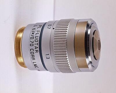 Leica Pl Fluotar L 63x Corr Lmc Hoffman Modulation Contrast Microscope Objective