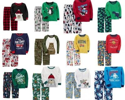Carters Boys Pajamas Dinosaur Bear Fire Truck - Boys Carters Fire Truck