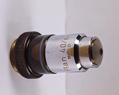 Zeiss Plan 40x .65 160mm Tl Microscope Objective