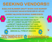 SEEKING ALL TYPES OF VENDORS!!