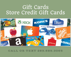 Best Price for your Unwanted Gift Cards!