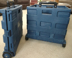 Two Boating/Camping hard plastic pull along bins