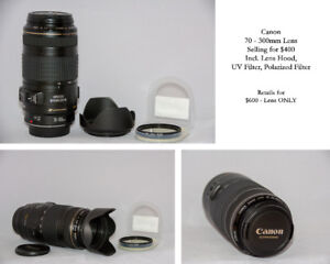 Canon 70-300mm f4-5.6 IS USM Lens - Great Deal