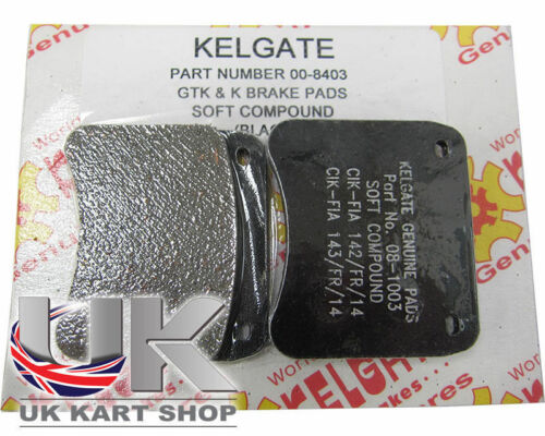 Kart Kelgate Kgtk Black (Soft) Brake Pads - Best Price On Ebay Great Value