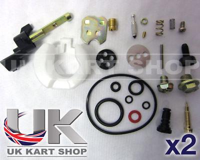 Kart 2 x Honda GX160 Full Carb Repair Kit Everything You Will Need