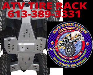 RICOCHET Canada Polaris Skid Plates ATV TIRE RACK Custom Colours
