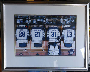 Toronto Maple Leafs Locker Room Jersey Picture 23 x 28 inches