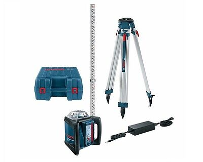 Bosch Grl 500 Hck Self-leveling Rotary Laser W Rod And Tripod Package