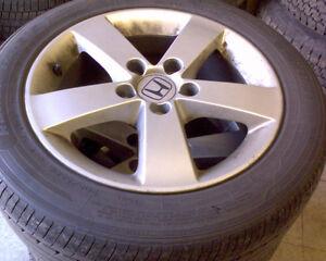 """16"""" Honda Rims + 205 55 16 all season tires"""