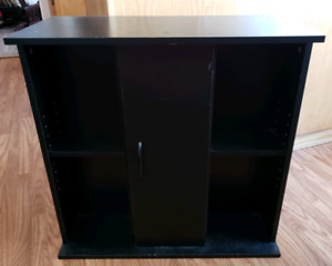 Black TV Stand with Matching CD/DVD Tower