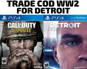 TRADE PS4 Call Of Duty COD WW2 for Detroit Become Human / others