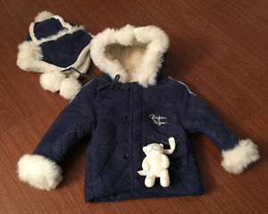 Gagou Tagou Boys Suede Coat with Matching Hat