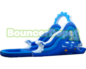 $1000 OFF this Large Inflatable Waterslide w/ blower and stakes