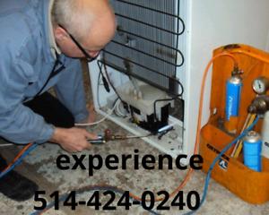 Réparation réfrigérateur frigidaire frigo fridge climatiseur ac