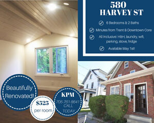 EXTENSIVELY RENOVATED 6 BDRM HOME - PERFECT FOR TRENT STUDENTS