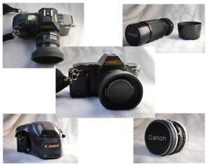 Appareil photo reflex Canon T70 à pellicule