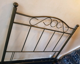 Lovely Metal Headboard For a Double Bed Good Condition Can Deliver for
