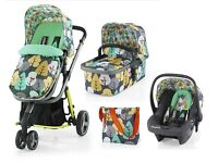 Cosatto Giggle full travel system with car seat and accessories