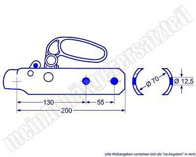 Rockinger Zugkugelkupplung Anhängerkupplung für DDR Anhänger KK92A 70mm Ausf. A