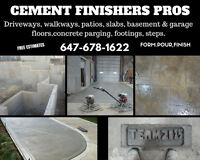 Concrete Finishers**Smooth or Broom*Driveways,Floors,Steps