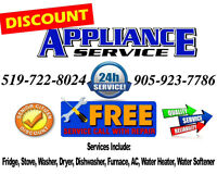 Appliance Repair 24/7 Same Day Service, 519-722-8024 Resi & Comm