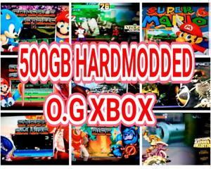 ☆500GB☆ HARDMOD ☆ Original XBOX ☆ 40K+GAMES ☆ HD 1080I