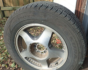 Goodyear All Season Assurance 215/65R16   -- Alum alloy rims,