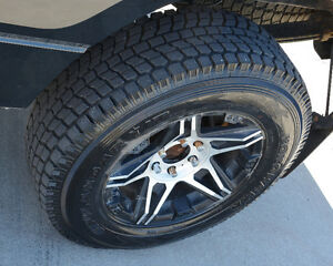 Like new winter tires on aluminum rims, Ford P/U