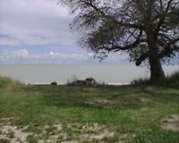 Gorgeous lakefront property with a sandy shore and a trailer