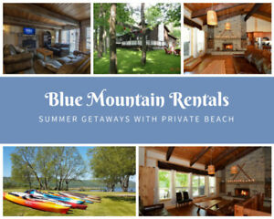 Blue Mountain Summer Getaways - 3 to 9 Bed Chalets Available