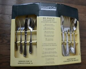 85 piece Hampton Forge, Cuttlery hostess set, service for 16