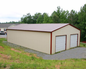 STEEL BUILDINGS - FALL OR SPRING DELIVERY
