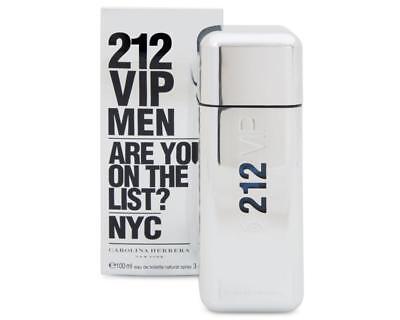 212 VIP by Carolina Herrera * Cologne for Men * 3.4 oz * BRAND NEW IN BOX