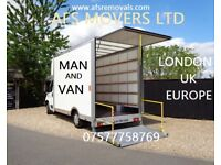 URGENT Removal Service Moving Office Furniture House Waste Clearance Man & Van Hire UK & Europe