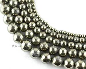 4-6-8-10-12mm-Natural-Pyrite-round-loose-Beads-15