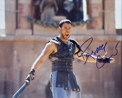 SIGNED MOVIE PHOTO *GLADIATOR* RUSSELL CROWE REPRINT AUTOGRAPHED FREE S&H