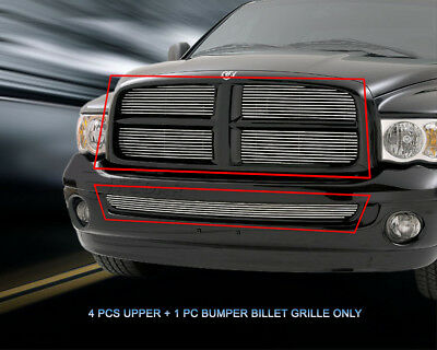 - Billet Grille Grill Combo  For Dodge Ram 2002 2003 2004 2005
