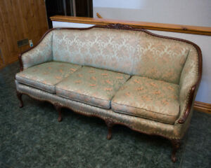 Antique Victorian couch and matching chair