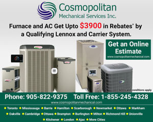 Furnace and AC Get Upto $3900 Rebates