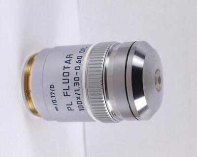 Leica Pl Fluotar 100x Oil 1.30-0.60 M25 Microscope Objective