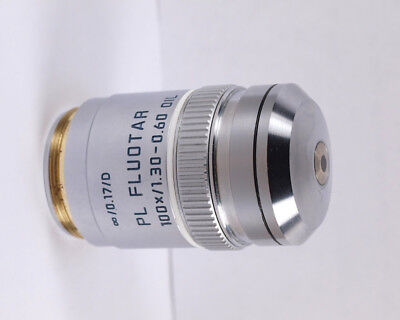 Leica Pl Fluotar 100x Oil Iris 1.30-0.60 M25 Microscope Objective