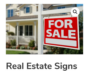 Real Estate sign pick up, install, removal and return