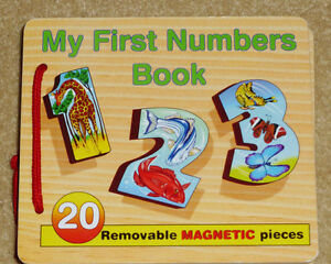 WOODEN MAGNETS - Melissa & Doug My First Numbers Book