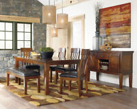 DINING TABLE WITH BENCHES ON BIG DISCOUNT FORM $799