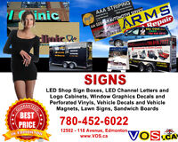 Professional Signs Services for Edmonton Businesses and Beyond