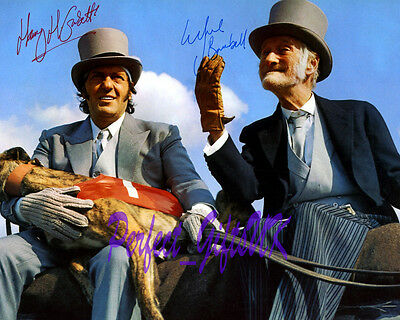 STEPTOE AND SON Harry H. Corbett Wilfrid Brambell SIGNED AUTOGRAPH 10X8 PP PHOTO