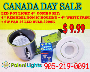 """LED POTLIGHTS 4"""" REMODEL NON IC COMBO SET ONLY $9.99 !!!"""
